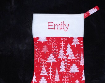 Personalised Christmas Stocking - Tree Design