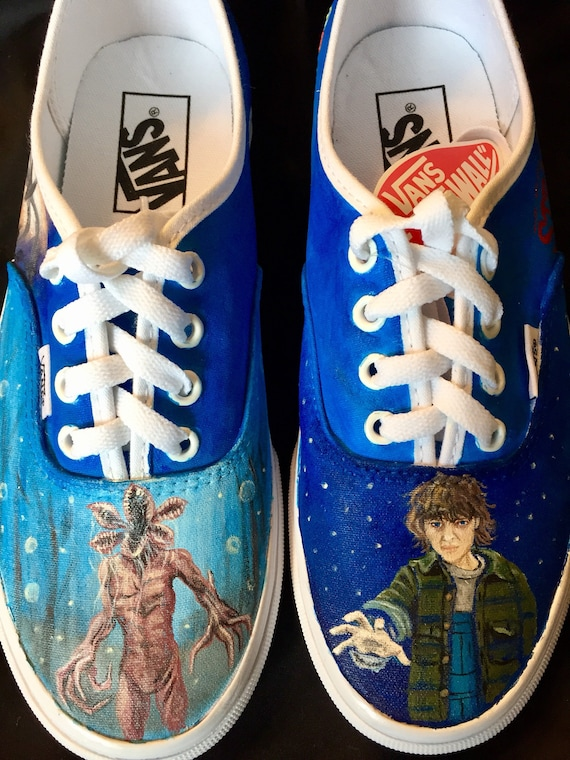 Custom Painted Stranger Things Shoes, Vans, Toms, Converse Custom Shoes