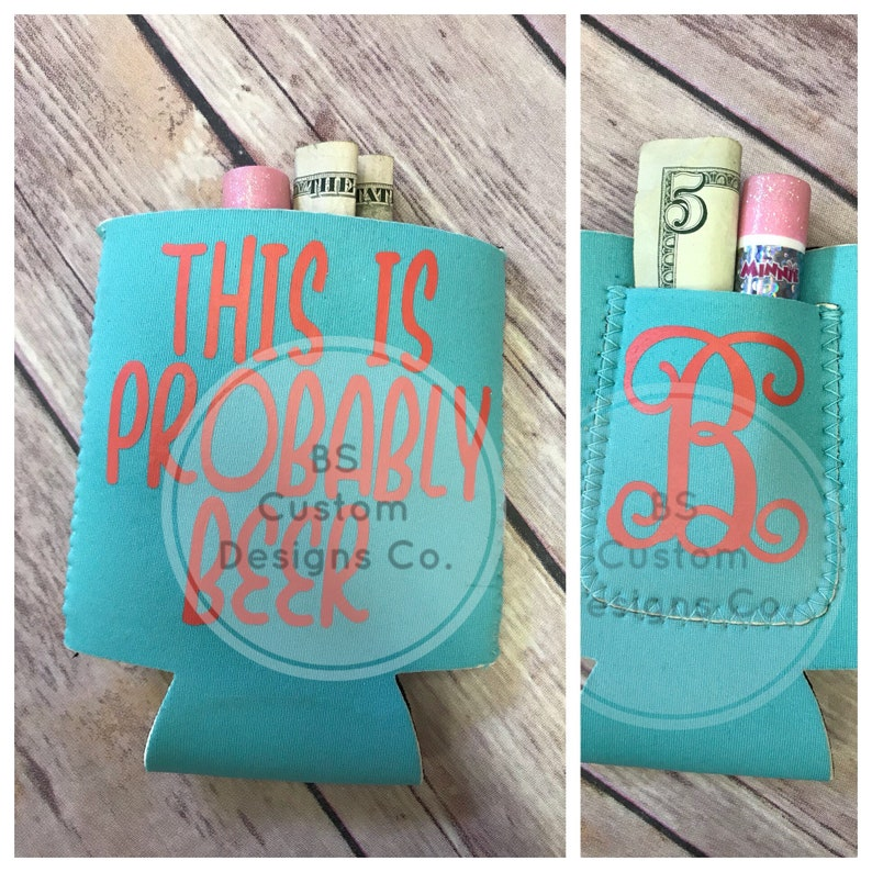 beer cozie gift for dad pocket huggie This is probably beer.can chiller gift idea. cozie fun cozie gift for mom