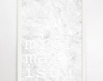 Minimalist Print, Typography Poster, Typography Wall Art, Minimalist Art, Marble Print, Black and White Prints, Minimalist Wall Art, Modern