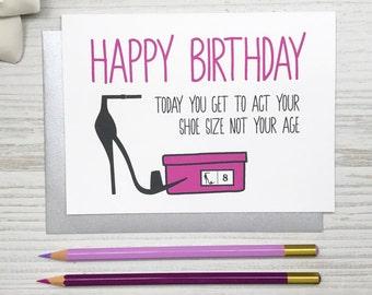 Funny Birthday Card, Funny Birthday Card for Her, Friend Birthday Card, Girlfriend Birthday Card, Charity Card, Women Funny Card