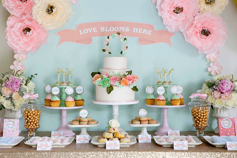 Custom Cake Table Decorations For Wedding Birthday Parties