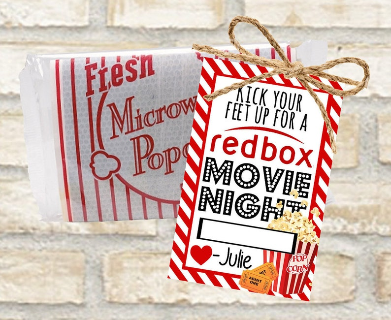 Redbox gift cards for popcorn and a movie date night with image 0