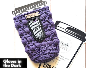Ghost Host Halloween Coffee Travel Cup Bottle Cozy Sleeve MADE TO ORDER