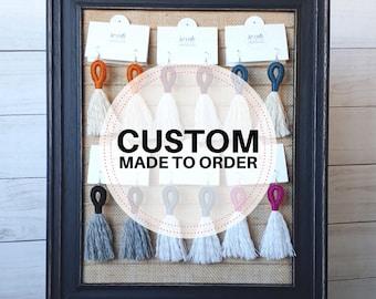 LOCAL PICKUP CUSTOM Loop & Fringe Earrings - Crochet Macrame Tassel French Hook Clip-on