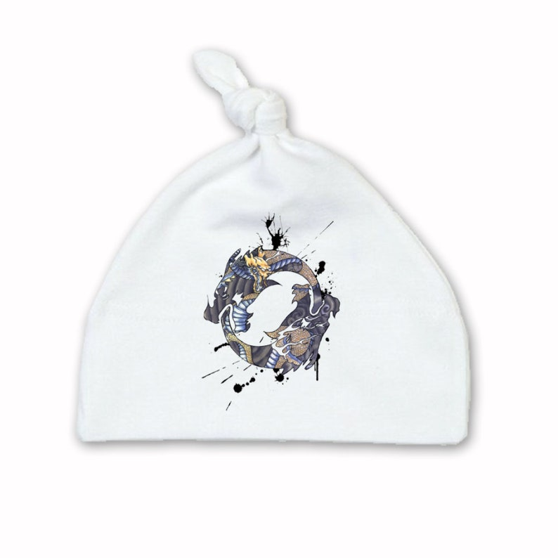 Baby Cothing Set Original Art Inspired by Overwatch Bib Hat Hanzo Body Suit 0-18 months