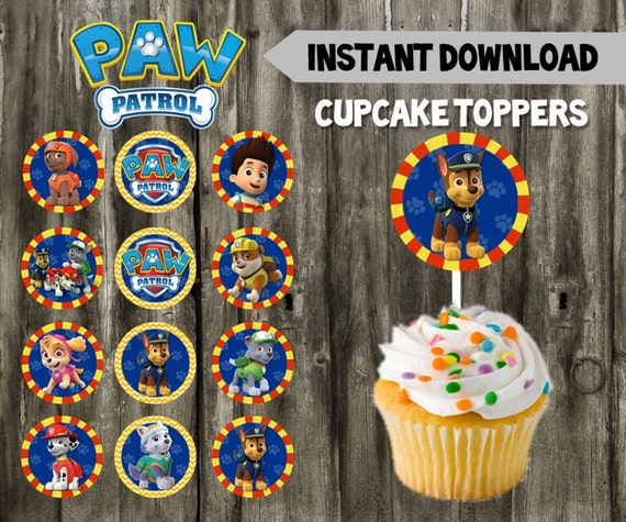 Paw Patrol Cupcake Toppers Cake Topper Pups