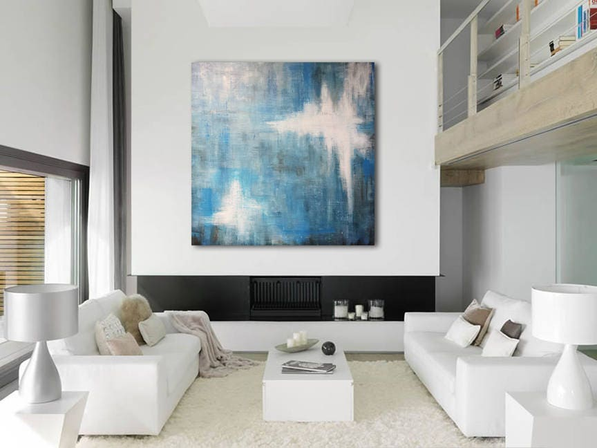 Minimalist Abstract Painting Custom Unstretched XLarge