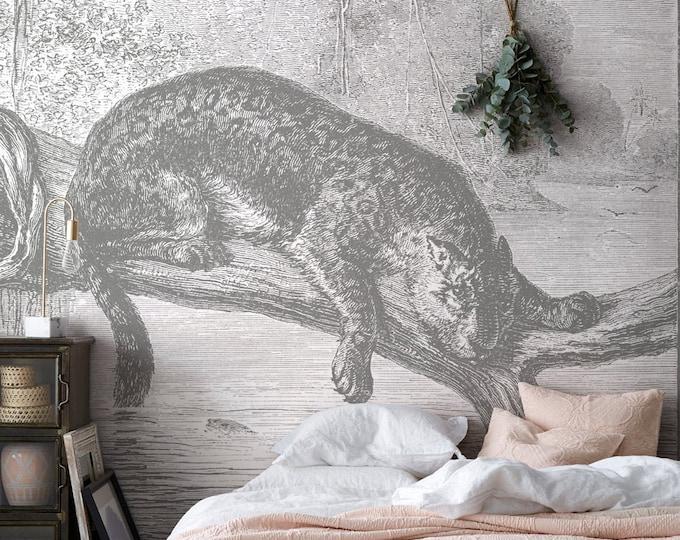 Jaguar Fishing Wall Mural
