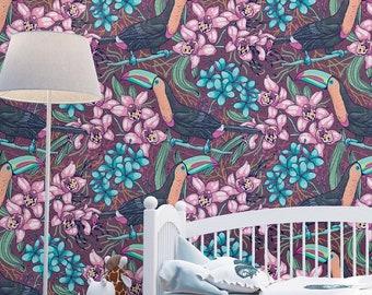 Purple Toucan Wallpaper