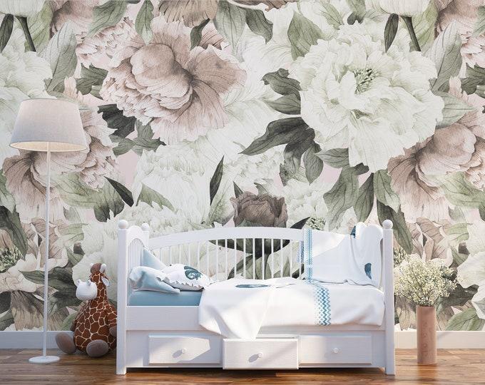 Blush Floral Wallpaper