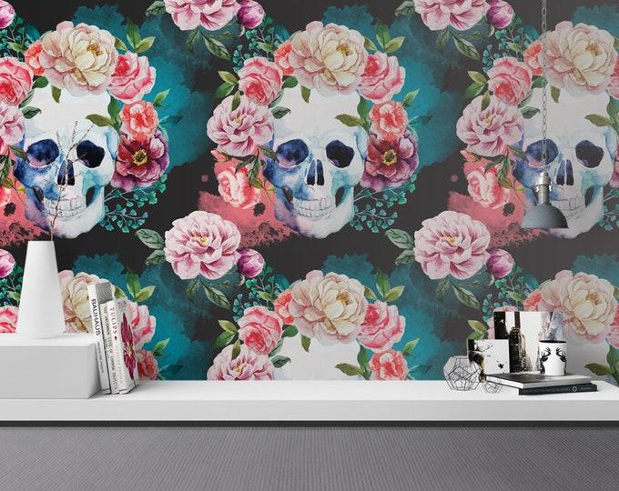 Flower Skull Wallpaper