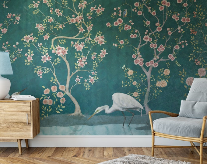 Teal Chinoiserie