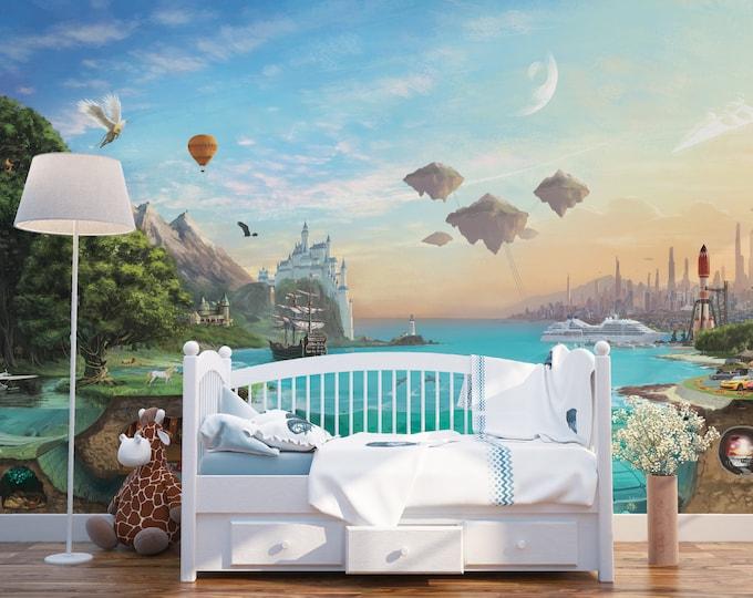 Panoramic Kids Tales Wall Mural