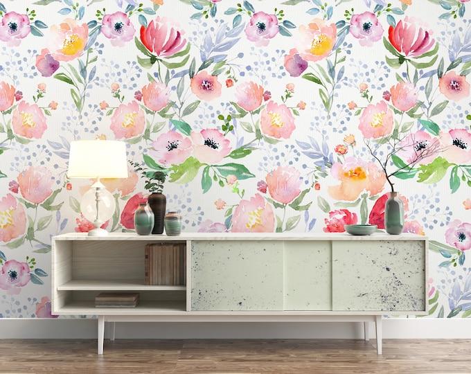 Dreamy Watercolor Floral Wallpaper