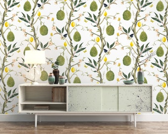 Floral Lemon Wallpaper