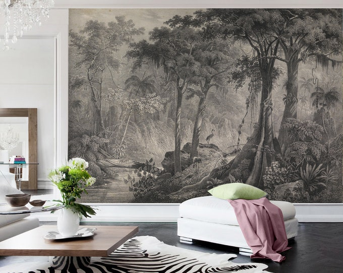 Flamingo Jungle Mural