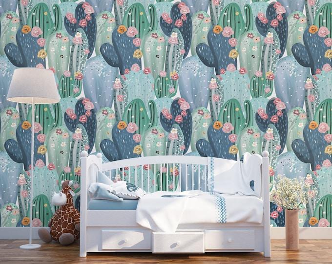 Colorful Cactus Wallpaper