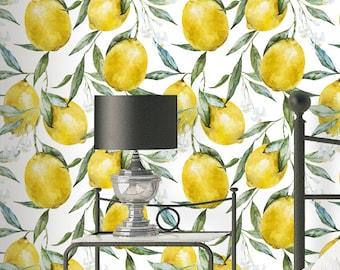 Watercolor Lemon Wallpaper