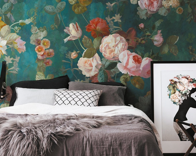 Dark Floral Mural