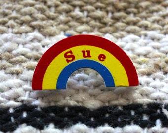"""Vintage """"Sue"""" Rainbow Pin"""