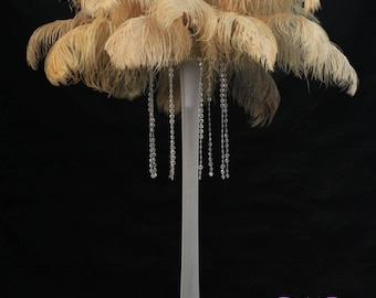 Gold Ostrich Feathers TAIL Plumes 15 to 18 inch, 1 to 100 Pcs. USA Store, Centerpieces, Samba, Carnival, Mardi Gras, Weddings, Burlesque