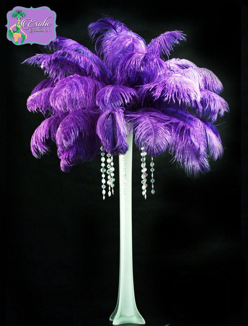 USA Shop  PURPLE Ostrich Feathers 13 to 18 inches Long. image 0