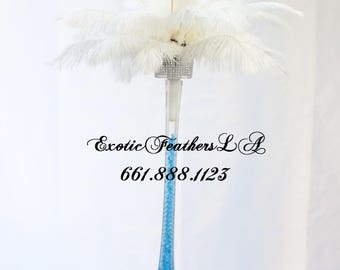 """Amazing 33"""" DIY Feather Centerpiece Kit Bluebead. Create exquisite feather centerpieces for your special event! 25 Feathers each centerpiece"""