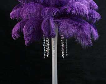 USA Seller! PURPLE Ostrich Feathers. Giant Tail Feather Plumes. 13 to 18 inches Long,Feather Centerpiece,Mardi Gras,Samba Costumes,Burlesque