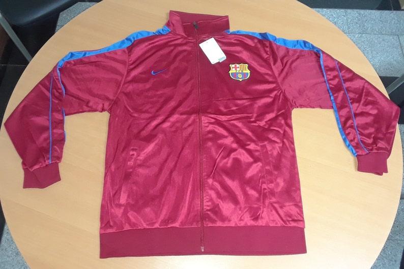 Barcelona  F.C Youth Kids Red Jacket  Size XL  Brand New.-