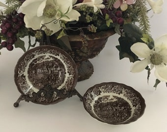 Stratford Stage - Brown Ironstone Cereal Bowls - J & G Meakin, Royal Staffordshire, England