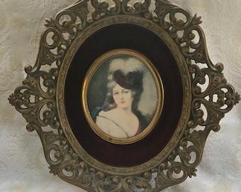 "Victorian ""Cameo Creations"" Print of Maria de la Bourbon by Unknown Artist"