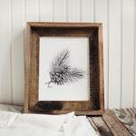 Pine Cone Print - Pine Cone, Sketch, Mountain Decor, Pinecone Print, Art Print, Hand Made, House Decor, Cabin Decor