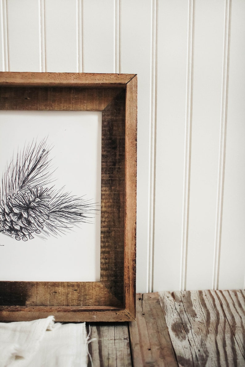 Pine Cone Pinecone Print Pine Cone Print Art Print Hand Made Mountain Decor Sketch House Decor Cabin Decor