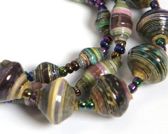 Paper Bracelet Single Stretch/Earthtones/MED/Recycled/JJ-BR-1