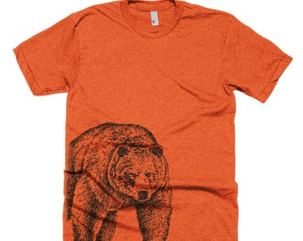 Brown bear t shirt etsy grizzly bear t shirt brown bear tee shirt bear shirt unisex american apparel publicscrutiny Gallery