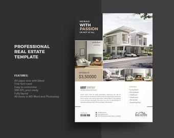 real estate flyer etsy