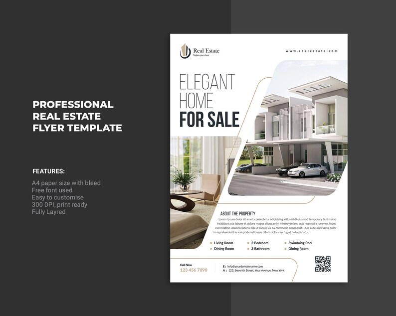 Real Estate Flyer Template   Photoshop Template   Instate Download