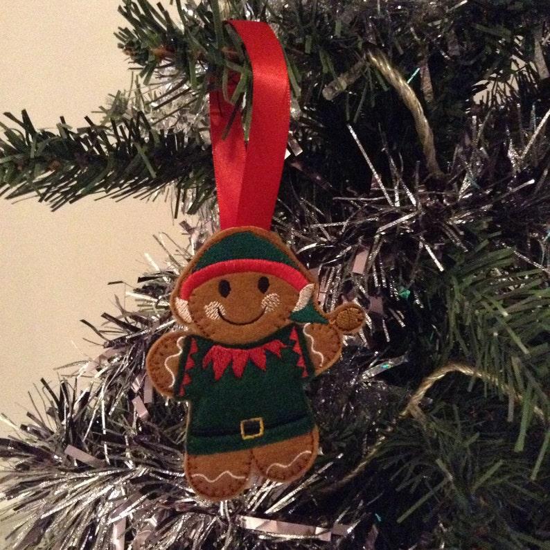 Elf Christmas Tree Decoration Christmas Elf Christmas Gifts Felt Decorations Christmas Ornaments Xmas Ornaments Stocking Filler