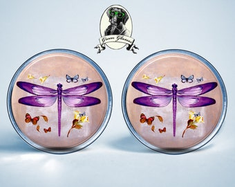Stud Earrings dragonfly Nature Protection Ecology Jewelry Gift