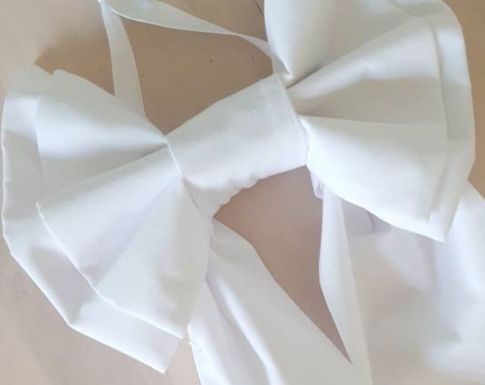 White Picture Bow