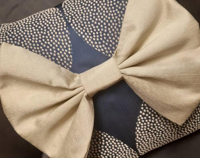 Decorative Blue Bow Cushion