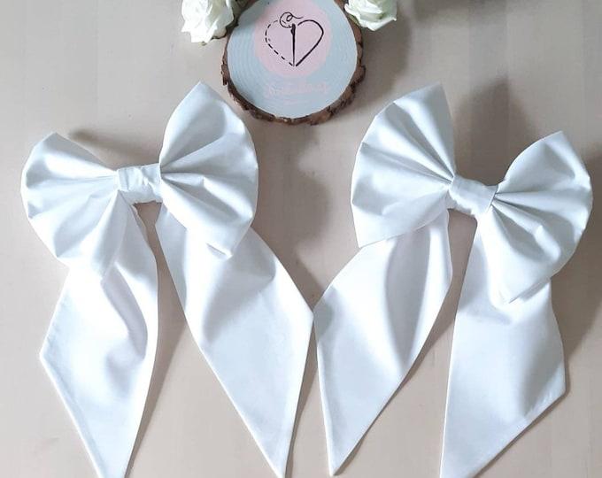 White Cotton Curtain TieBacks