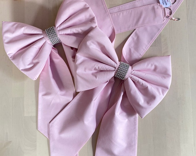 Padded Bow Curtain TieBacks