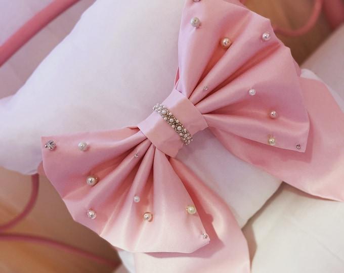 Pink Pearl Bow Cushion