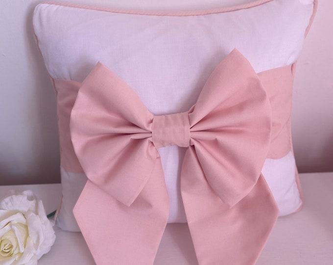 Blush Pink Bow Cushion