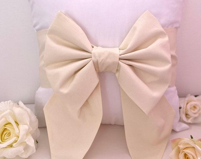 Cotton Bow Cushion