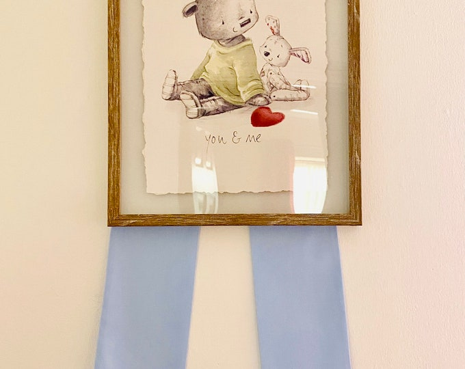 Picture Bow Baby Blue