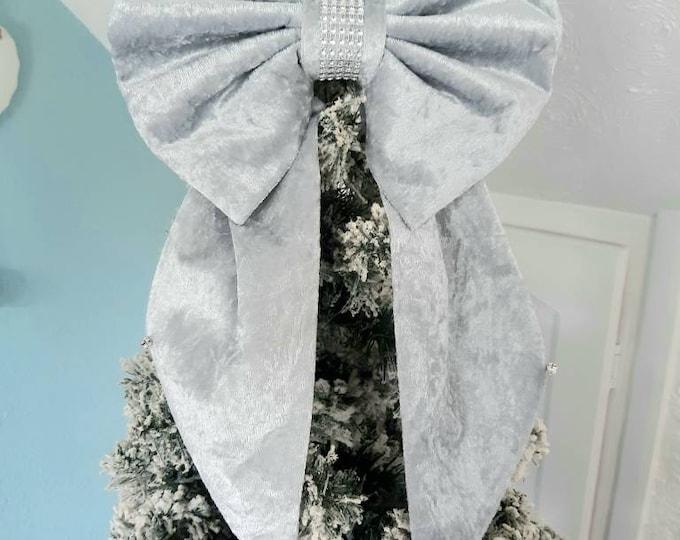 Silver Christmas bow