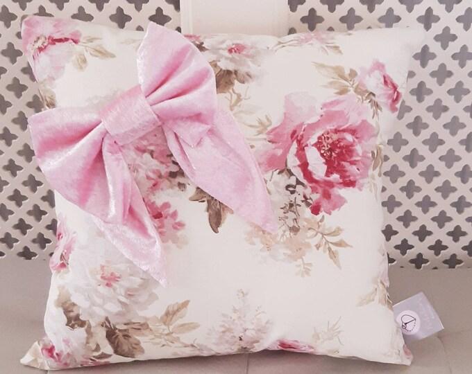 Floral Bow Cushion